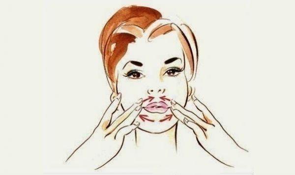 Массаж вокруг губ