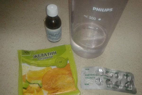 Желатин и глицерин