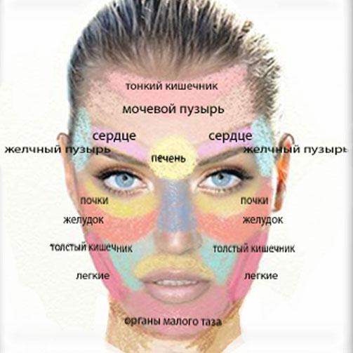 Связь высыпаний на лице с внутренними болезнями