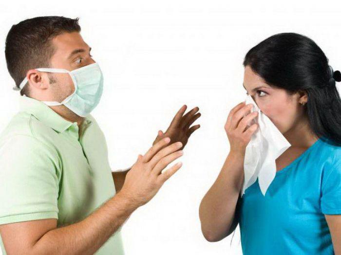 Опасность заразиться инфекцией воздушно-капельным путем