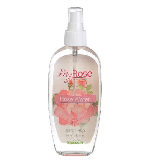 Розовая вода во флаконе