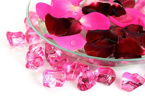 Кубики льда из настоя лепестков роз