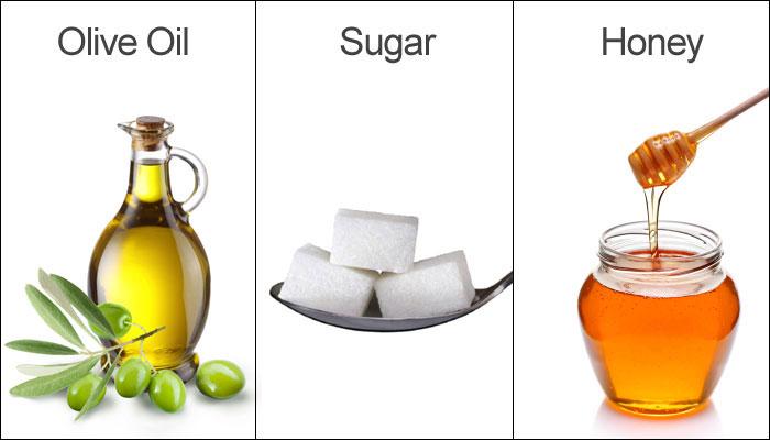 Масло, сахар, мед