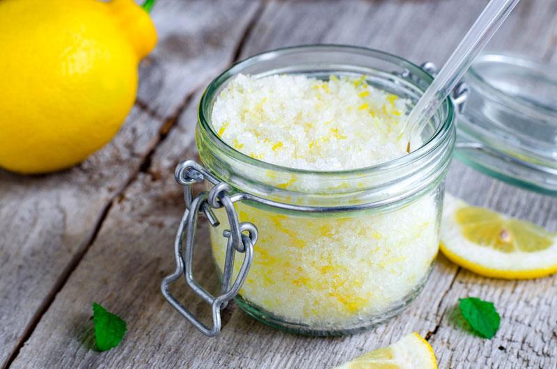 Скраб с лимоном и сахаром