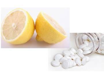Аспирин и лимон
