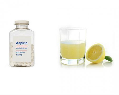 Аспирин и сок лимона