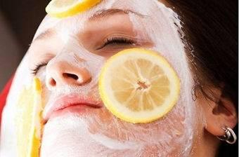 Белковая маска для лица с лимоном