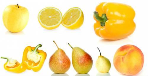 Желтые овощи и фрукты