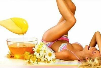Сахарная эпиляция кожи тела