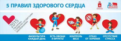 5 правил здорового сердца