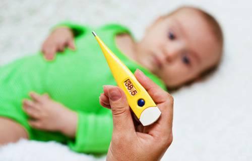 Повышенная температура у младенца