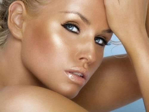 Бронзовая кожа лица