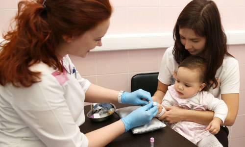 Забор крови на анализ у ребенка
