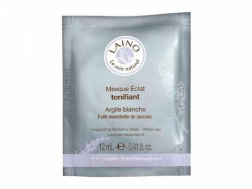 Маска тонизирующая для сияния кожи лица с белой глиной Laino