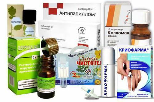 Лекарственные препараты от папиллом