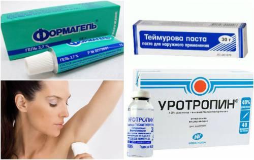 Препараты от гипергидроза