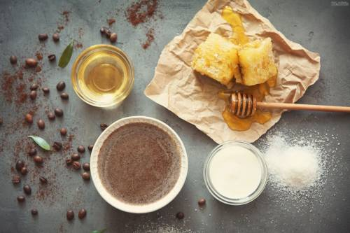 Масло, мед, соль, сметана