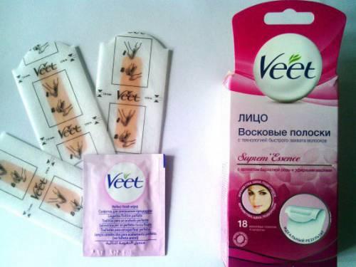 Восковые полоски Veet для лица