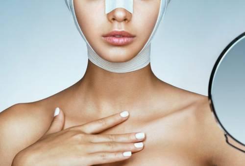 Эластичная повязка после подтяжки лица