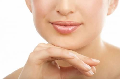 Гладкая кожа над верхней губой