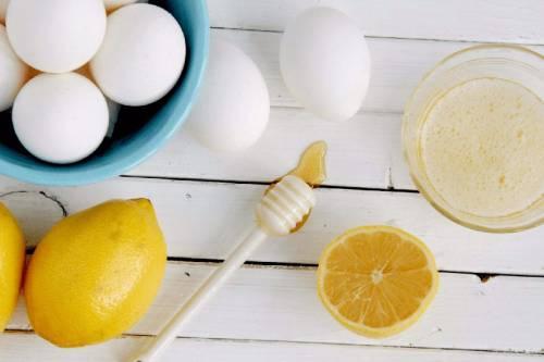 Яйца, лимон, мед