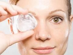 Кубик льда для протирания лица