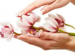 Цветок в красивых женских руках