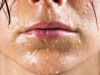 Мокрое лицо